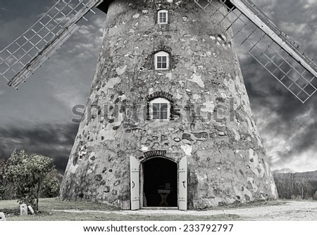 Entrance to medieval windmill