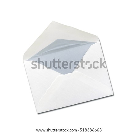 Envelope isolated on white background