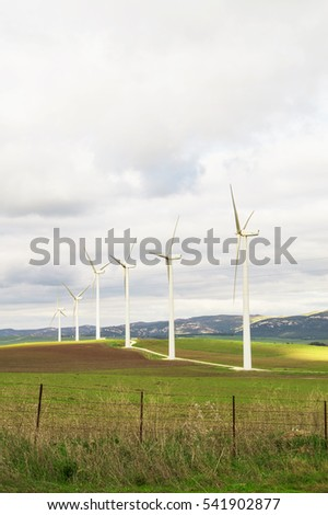 Eolic park near Facinas, Andalusia, Spain. Wind turbines