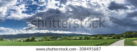 epic light panorama summer clouds beam hope holy believe desire to travel