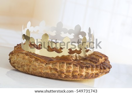 Epiphany cake stock photo 367267997 shutterstock for Decoration galette des rois frangipane