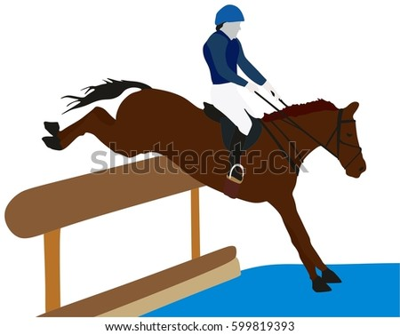 Eventing horse silhouette