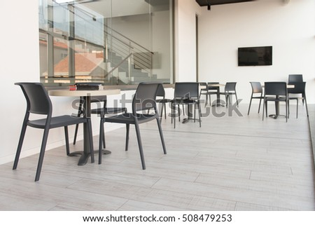 Dining table chairs stock photo 127837442 shutterstock for Dining room equipment