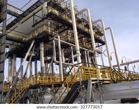 Equipment for final separation of oil. The equipment of crafts in Western Siberia, iron designs and pipes