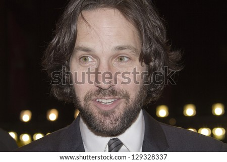 ERLIN, GERMANY - FEBRUARY 13: Actor Paul Rudd attends the 'Prince Avalanche' Premiere during the 63rd Berlinale  Film Festival at the Berlinale Palast on February 13, 2013 in Berlin, Germany.
