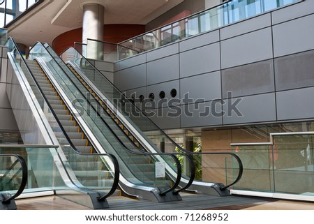 Escalator in a modern business area