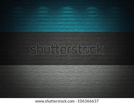 Estonian flag wall, abstract grunge background