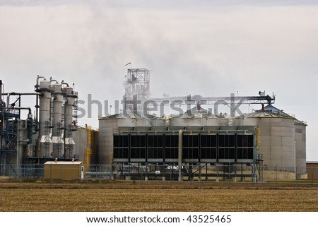 Ethanol Plant, making fuel from corn crop