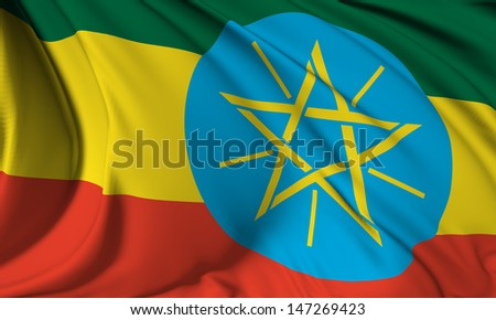 Ethiopia flag HI-RES collection