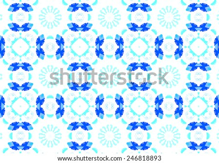 Ethnic pattern. Abstract kaleidoscope fabric design texture