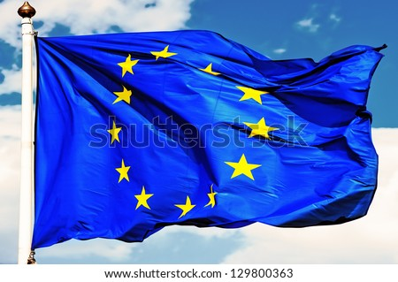 EU flags.