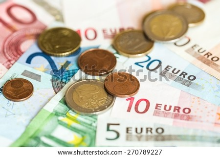 European Union Currency, Currency, Coin.