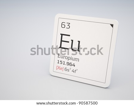 Europium - element of the periodic table