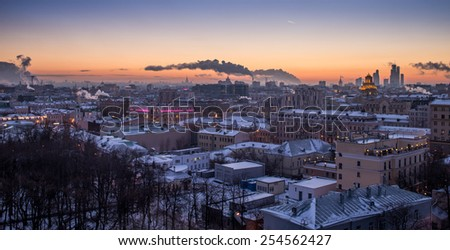 Evening in Moscow. Russia.