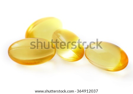 Evening Primrose supplement food capsules pills isolated