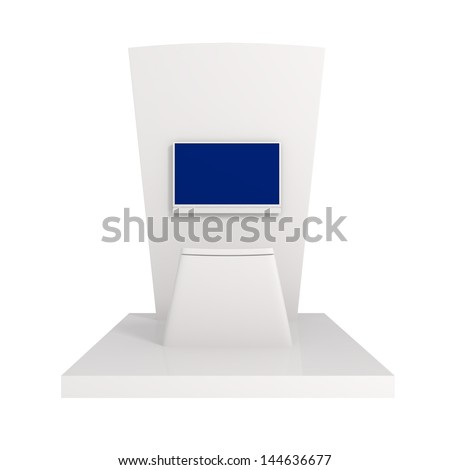 Exhibition Stand isolated on white - 3d illustration
