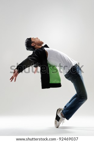 expressive dance move where the modern dancer bends