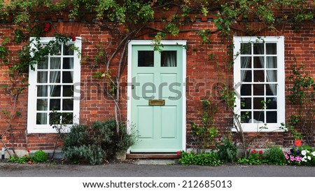 View Beautiful House Exterior Front Door Stock Photo 584445823 ...