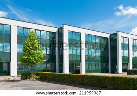 exterior office. exterior of a modern office building