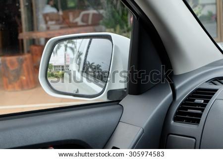 image side mirror stock photo 202618336 shutterstock. Black Bedroom Furniture Sets. Home Design Ideas