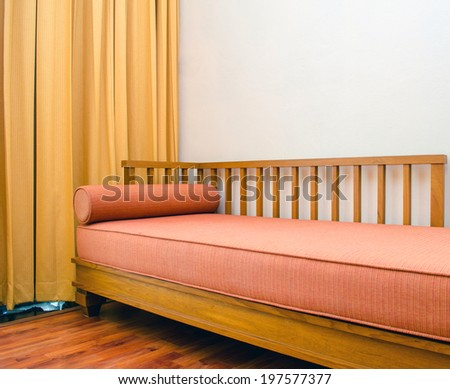 Extra beds and wooden mattress supports