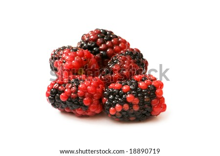 Extreme close up of berry isolated on white