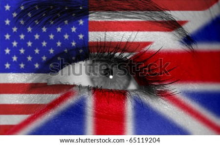 eye with flags