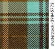 fabric plaid texture. (High.res.scan.-See Portfolio Collection) - stock photo
