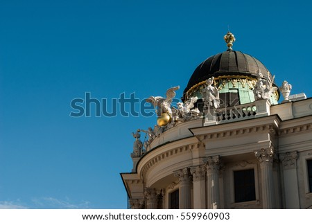 Facade and blue sky with cloud in vienna, austria 2015