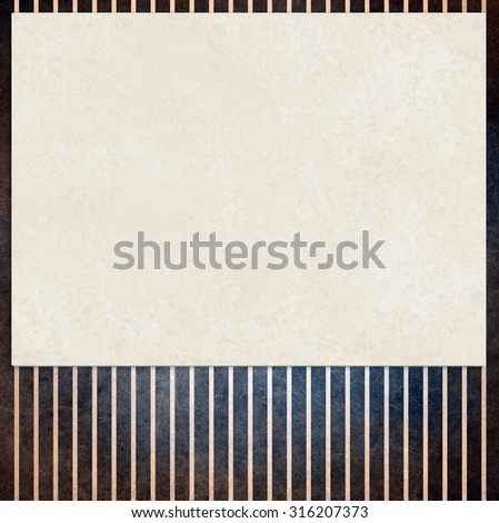 faded vintage black and beige striped background, shabby chic line design element on distressed texture, warm brown and black background colors