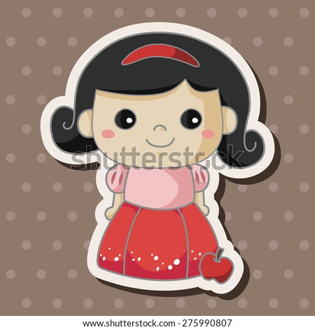 fairytale princess , cartoon sticker icon