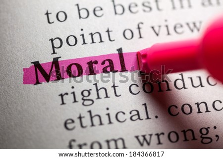 Fake Dictionary Dictionary Definition Word Moral Stock Photo ...