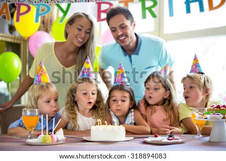 Children Birthday Party Home Stock Photo Shutterstock - Children's birthday parties ri