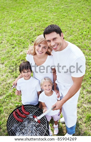 Family with children outdoors