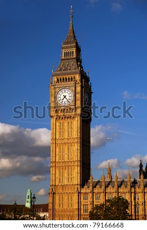 Famous Big Ben in London, UK