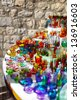 Famous croatian colorful souvenirs from glass - stock photo