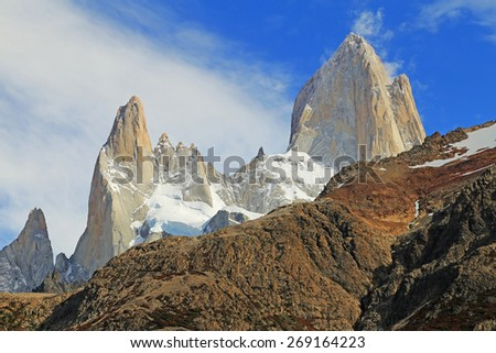 Famous Mt.Fitz Roy summit in Patagonia, Argentina