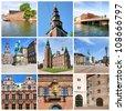 Famous sights of Copenhagen. Denmark - stock photo