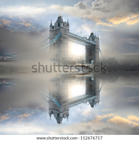 Famous Tower Bridge in the morning, London, England