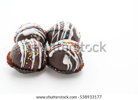 fancy chocolate ball on white background