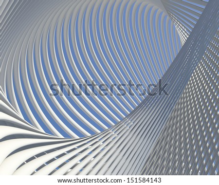 Fantastic modern shapes design. Abstract curves conceptual background