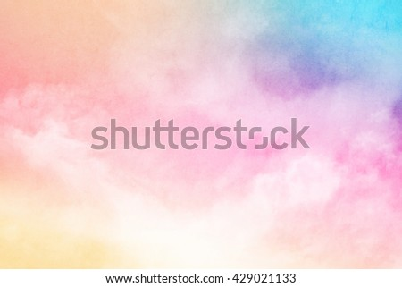 fantastic soft cloud and sky abstract background with grunge  texture