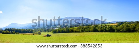 Farmland from region Savoy in France