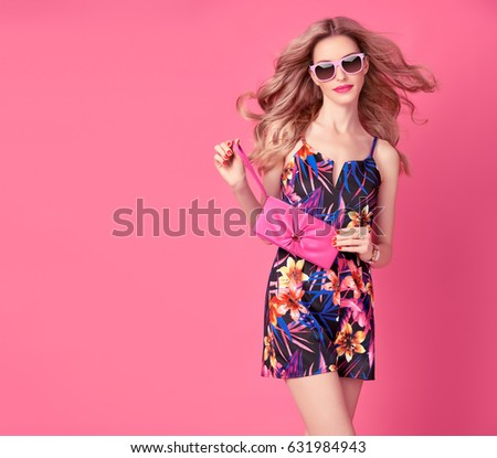 Fashion Woman Trendy Spring Summer Dress Stock Photo 569938747 Shutterstock