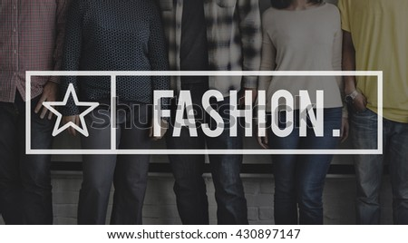 Fashion Glamour Costume Design Trendy Concept