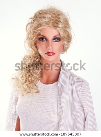 fashion mannequin, dummy, white background