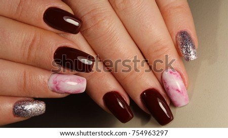 Beautiful nail art manicure nail art stock photo 757138573 fashion nails design manicure best of 2017 prinsesfo Images