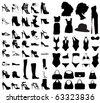 Fashion shoes, bags, swim suit set - stock vector