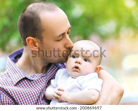 Father and infant