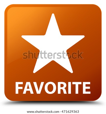 Favorite (star icon) brown square button